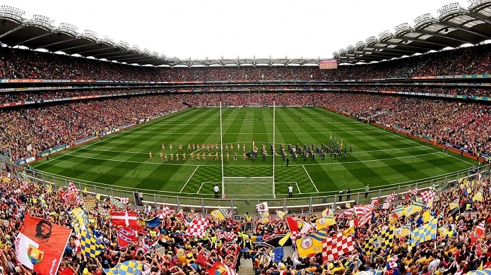 The crowd that a championship game attracts in Gaelic Football