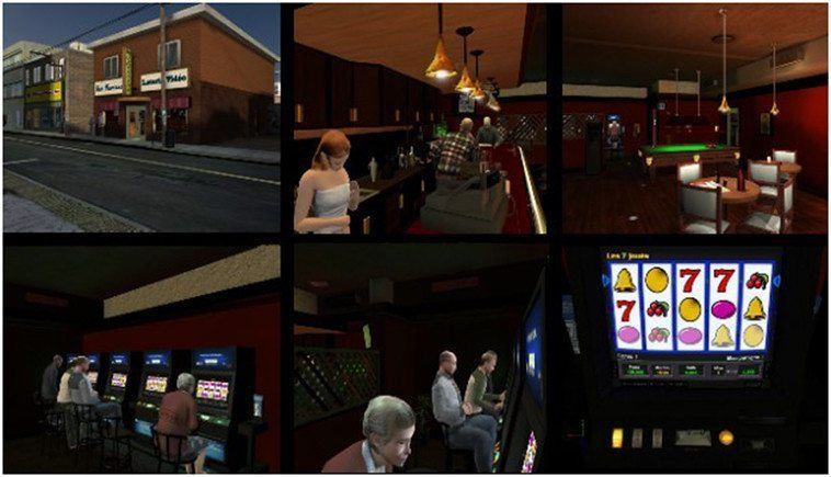 Images from a popular Virtual Reality CBT gambling addiction treatment