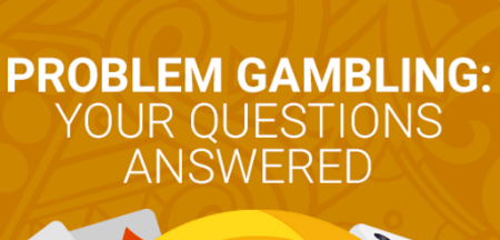 title gambling addiction questions on yellow background