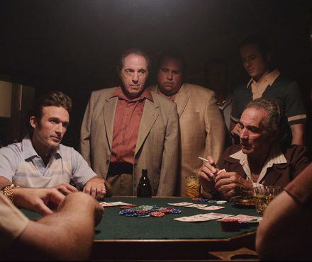 Gangsters having a private game of poker