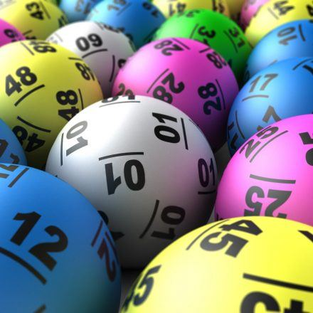 Selection of lottery balls.