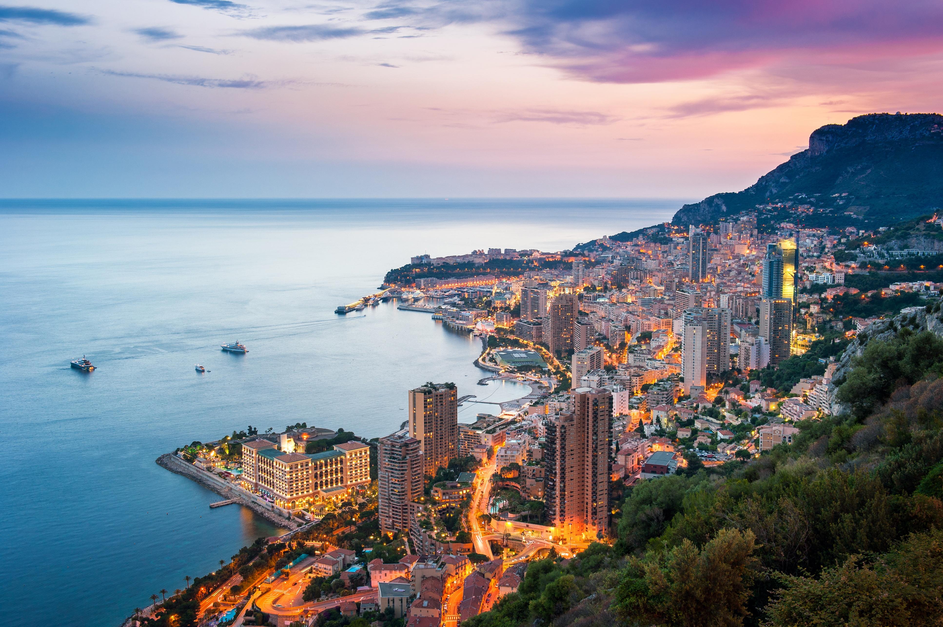 Sunset in Monaco.