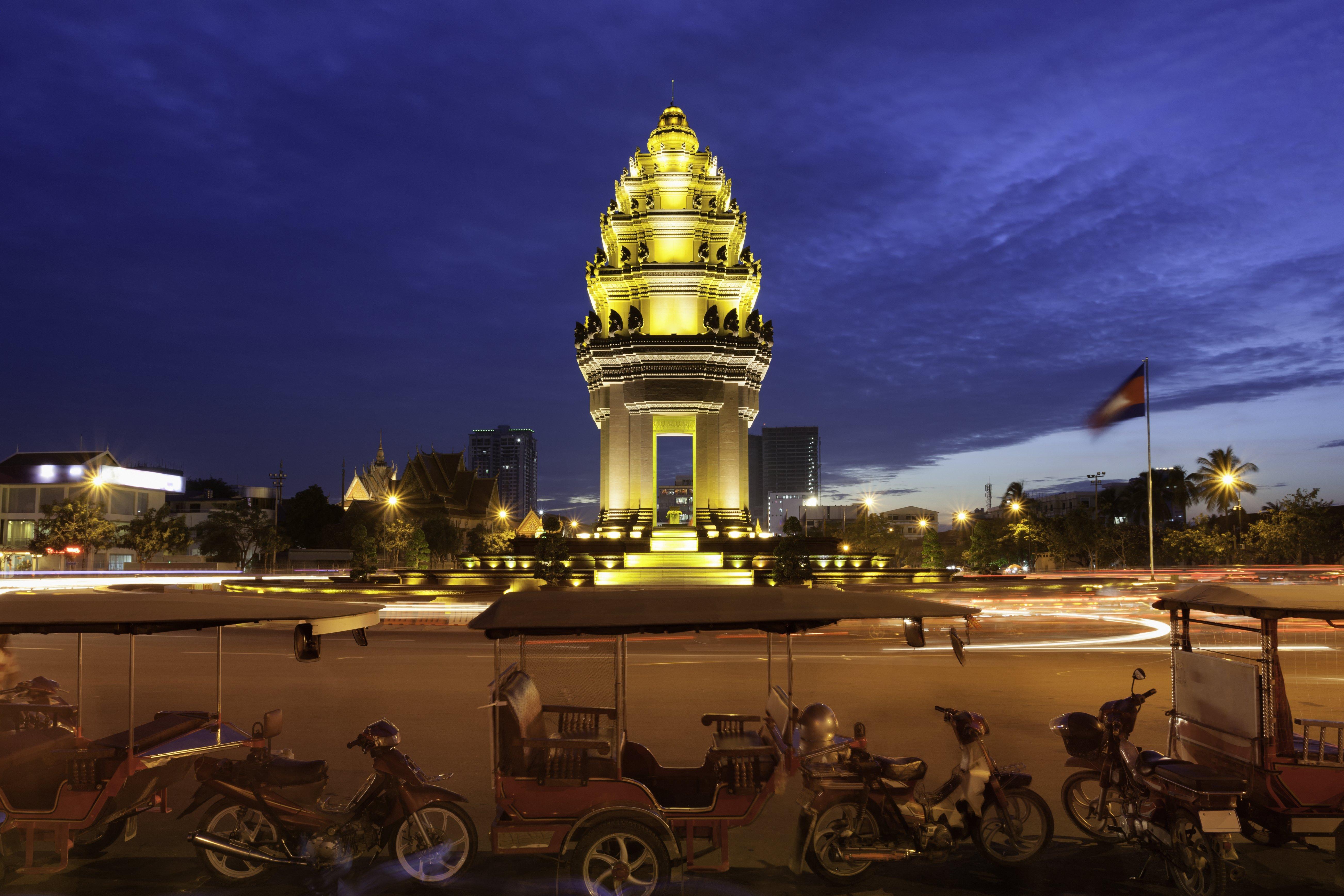 Tuk Tuks in Cambodia.