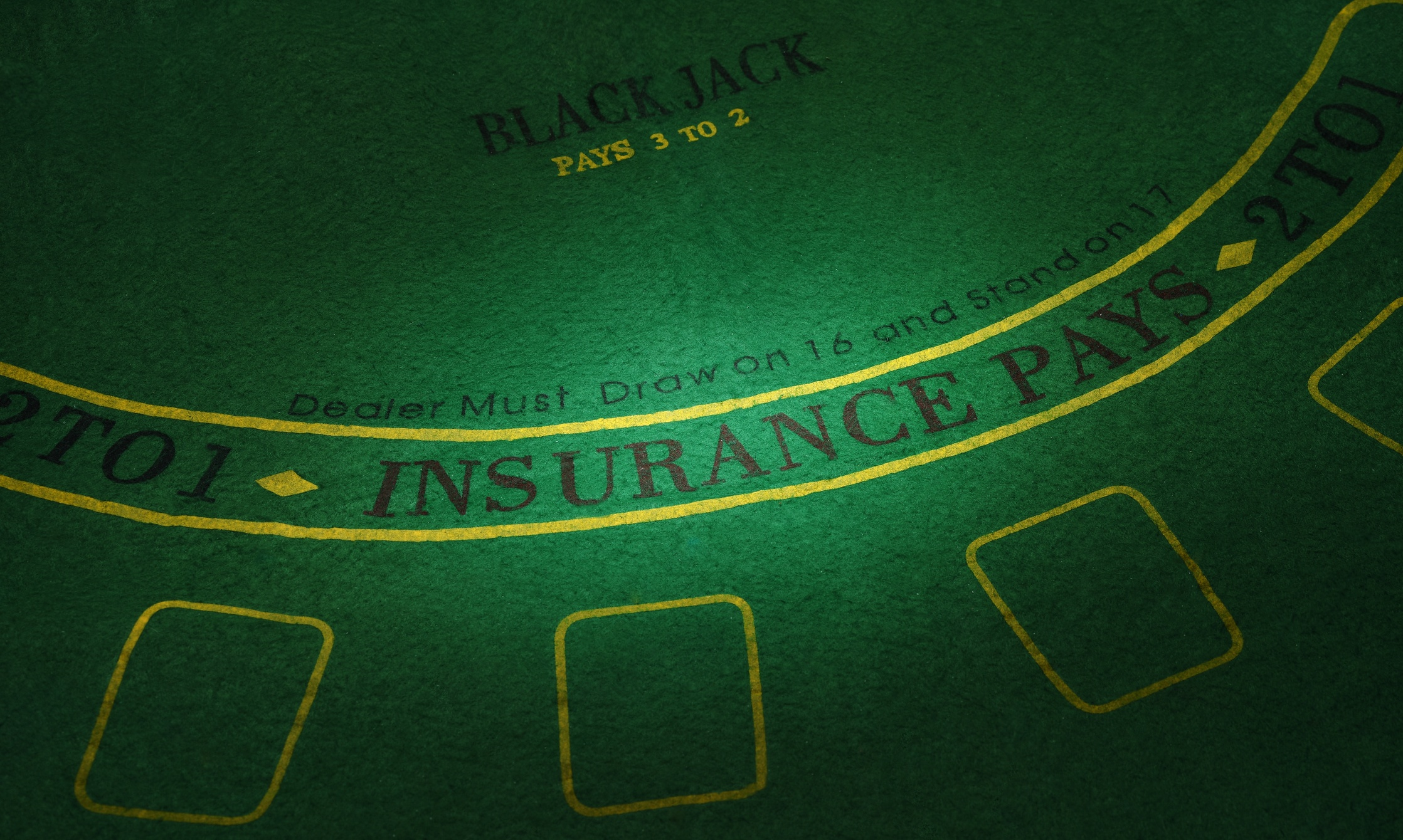 photo showing most popular blackjack game table layout