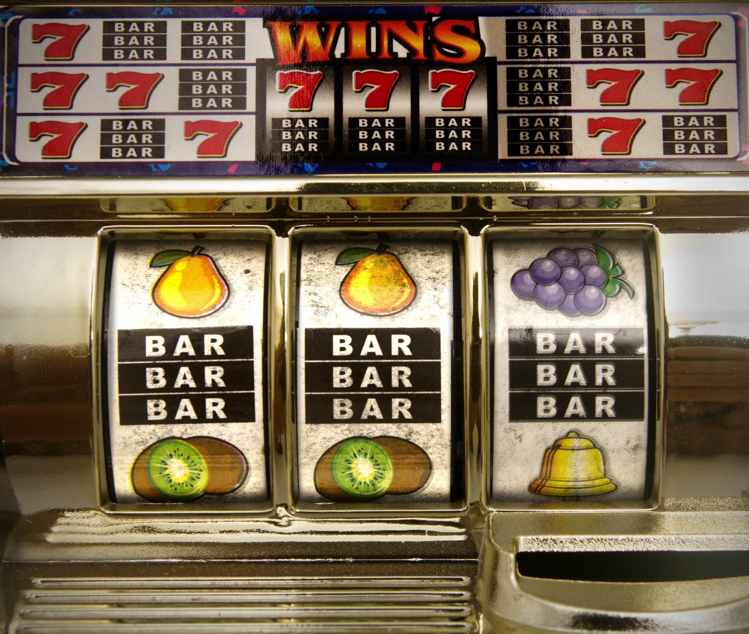 Where did the BAR on slot machines come from?