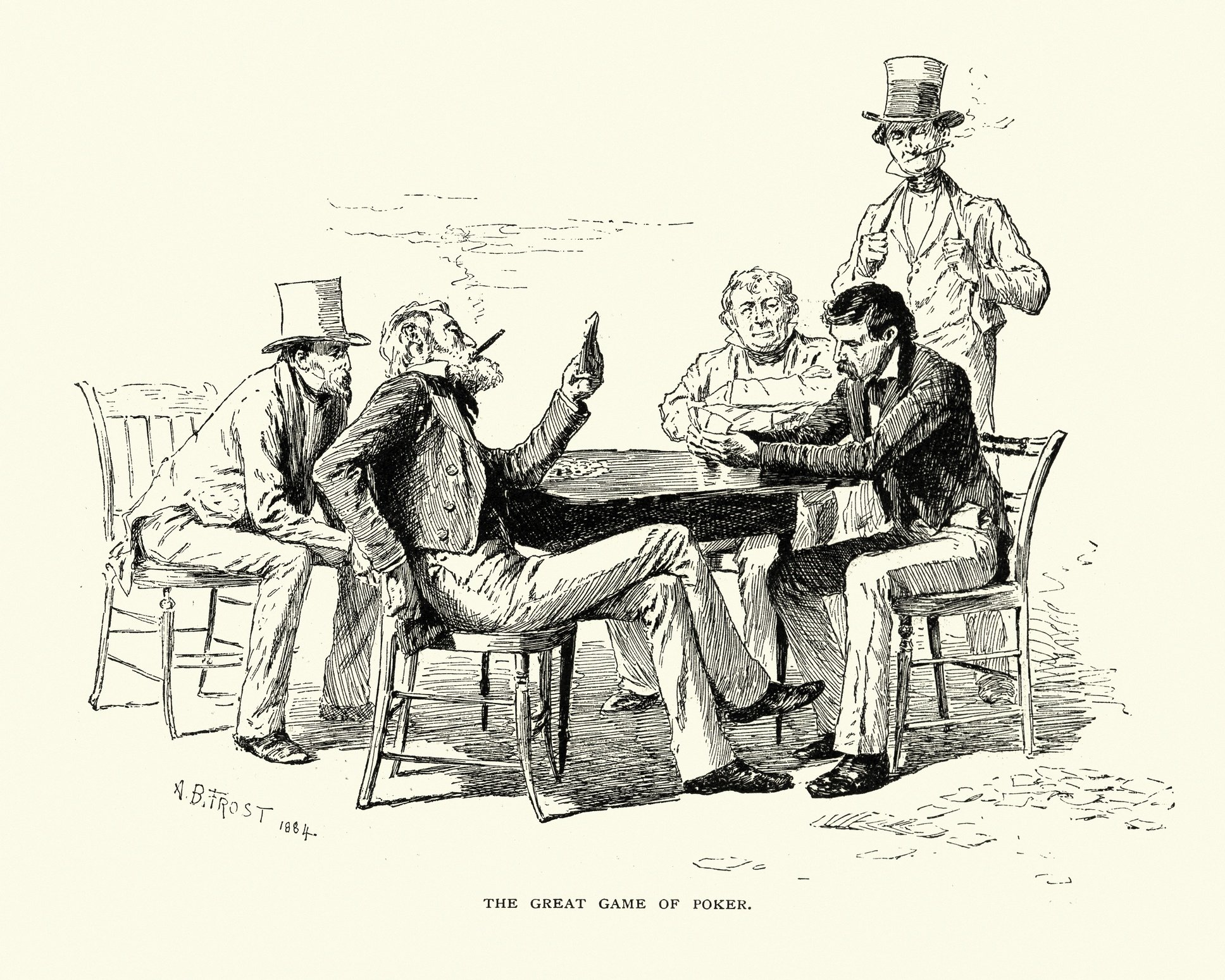 Poker game in the 19th Century.