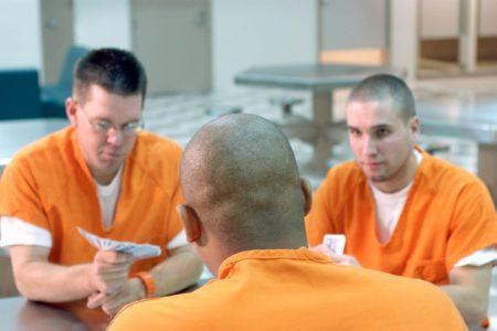 Inmates playing cards