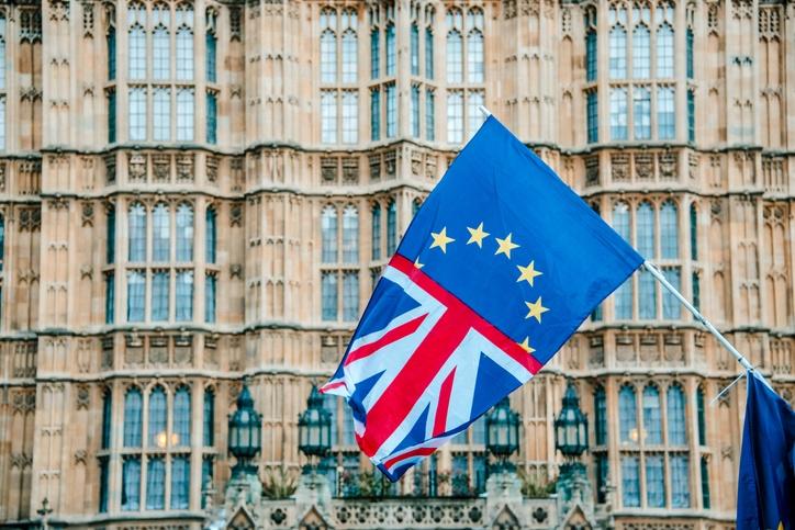 EU flag, parliament