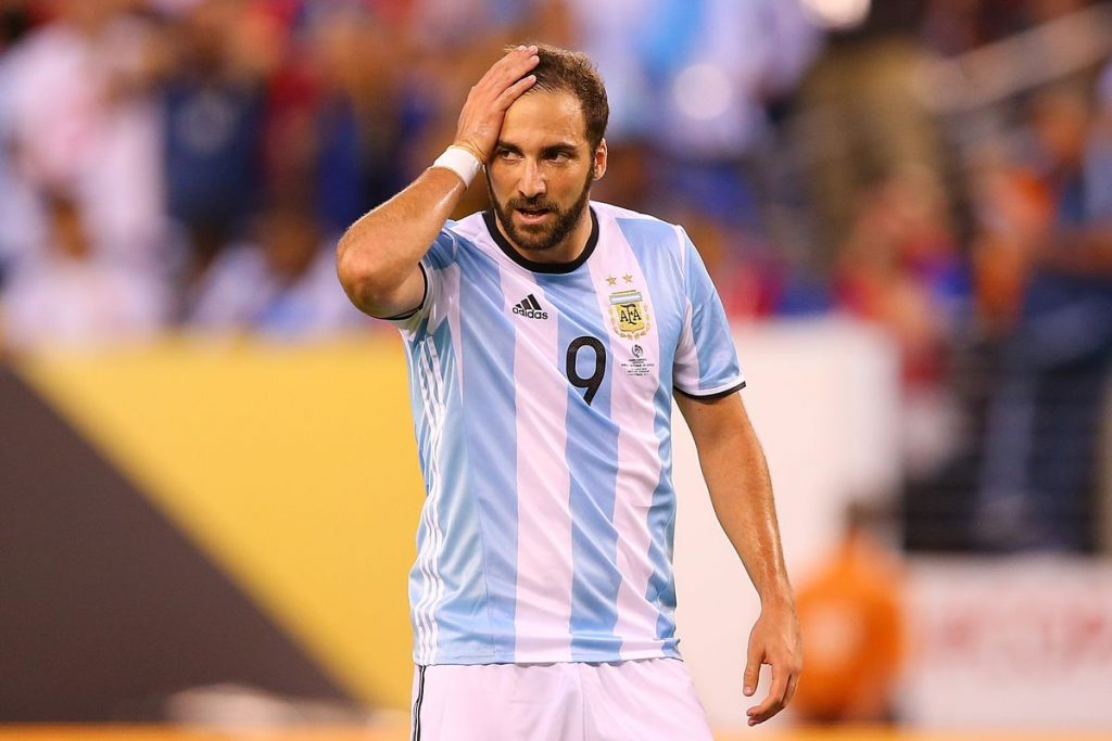 Gonzalo Higuain plays for the star-studded Argentina team