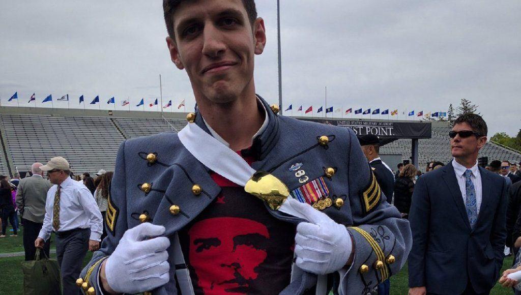Graduate who wore Che Guevara shirt under uniform