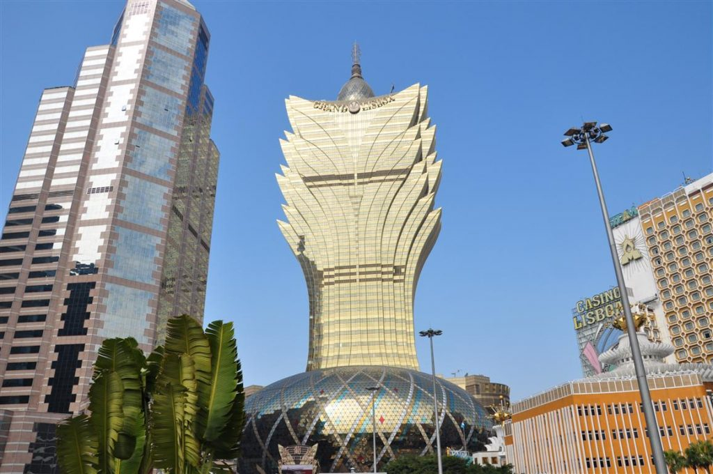 The Grand Lisboa Casino in the heart of Macau