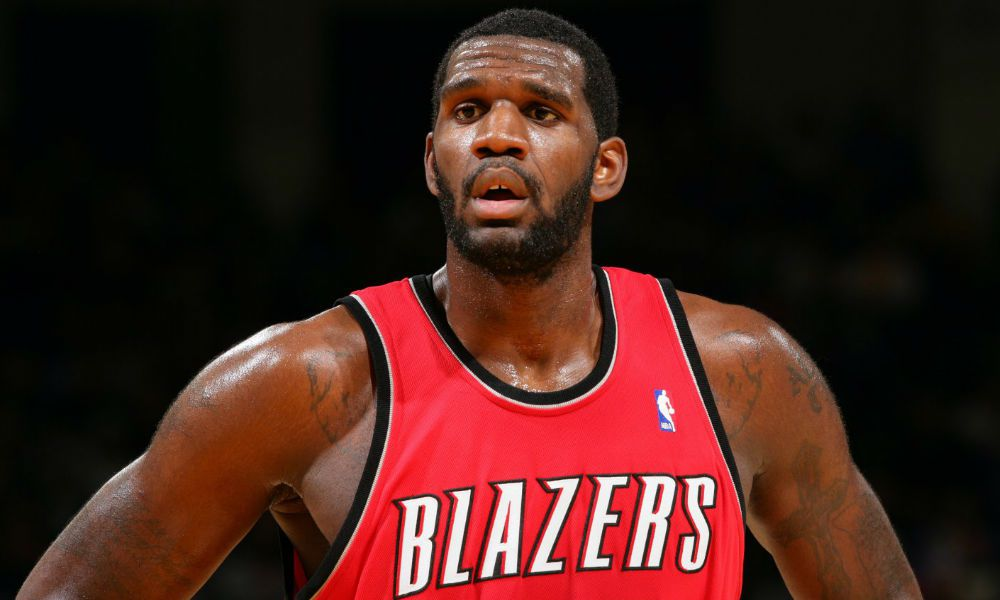 Greg Oden playing in the NBA for the Portland Trail Blazers