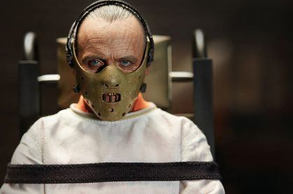 Anthony Hopkins plays a serial killer in the film, Hannibal
