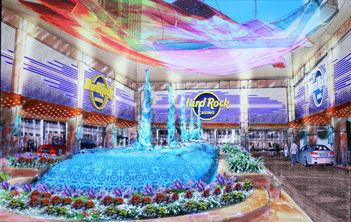 Plans for the new renovated Hard Rock Casino in Atlantic City