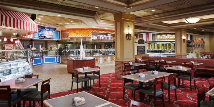 Inside the food court at Harrah's Hotel & Casino