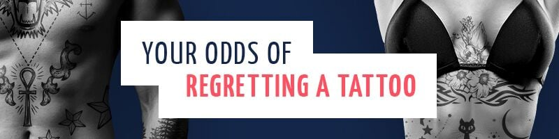 Your odds of regretting a tattoo