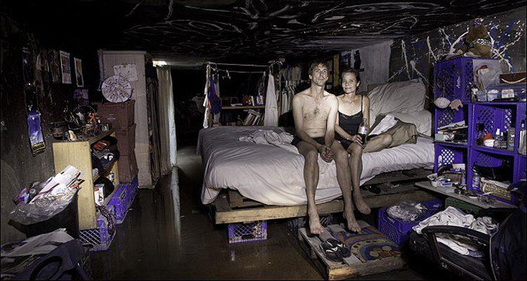 Homeless people living in Las Vegas storm drains