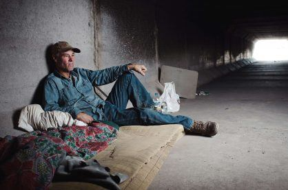 A homeless man living in the Las Vegas storm drain tunnels