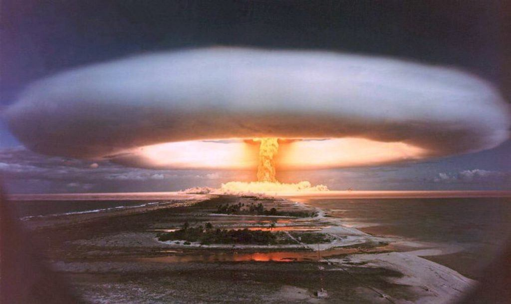 An image of the detonation of a hydrogen bomb