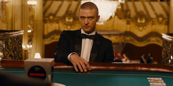 An image from a poker scene during the film In Time
