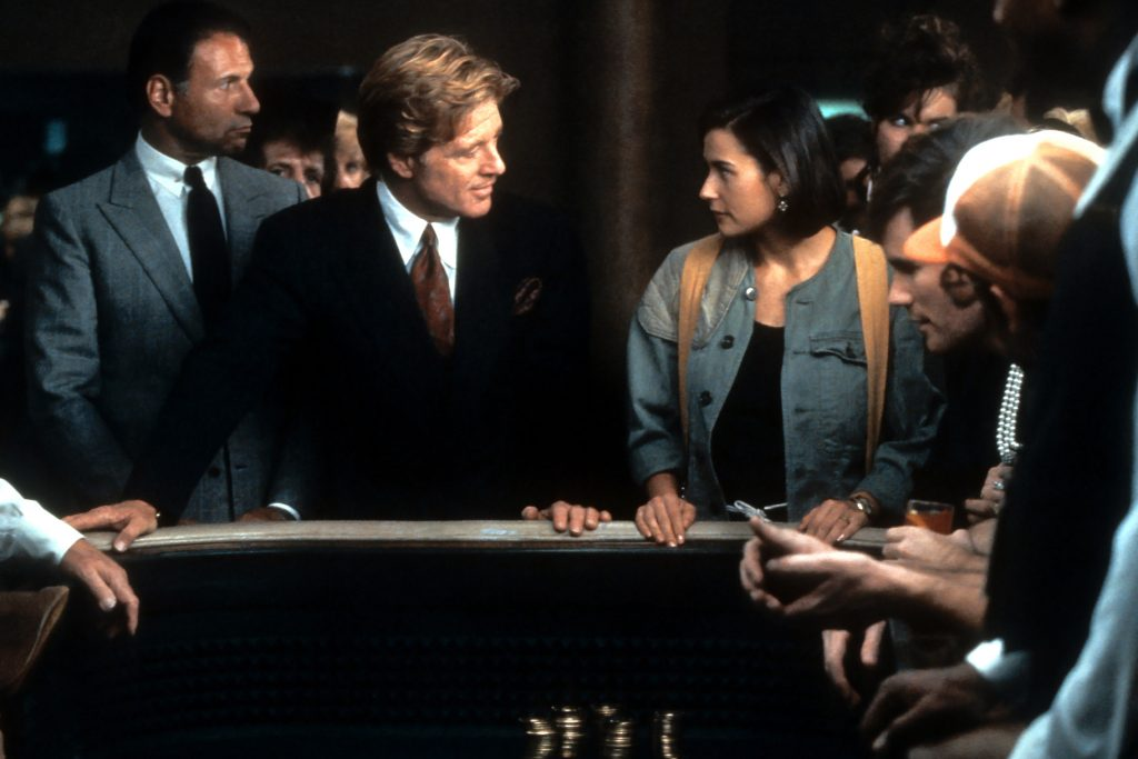 Indecent Proposal is a classic gambling film combined with romance