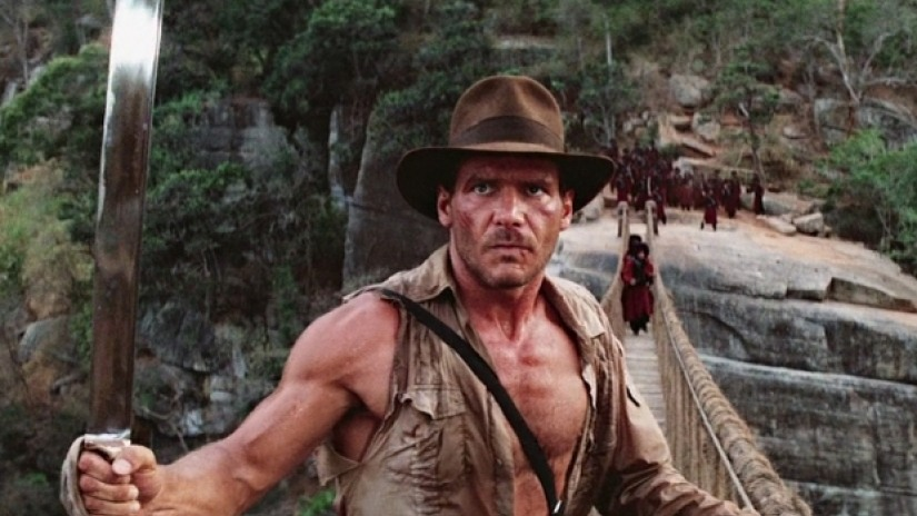 Harrison Ford, the star of Indiana Jones and the Temple of Doom