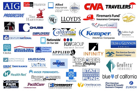 An image of the different insurance company logos