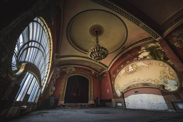 Interior decor from one of the rooms inside the abandoned casino