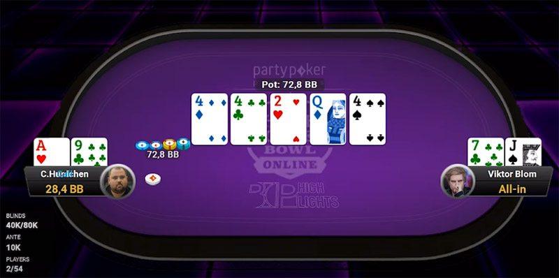 Viktor Blom plating online poker