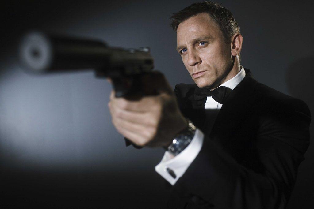 The actor Daniel Craig as James Bond