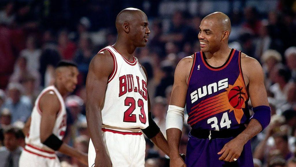 Michael Jordan and Charles Barkley, former NBA stars and big gamblers