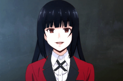 Yumeko Jabami, the main character from Kakegurui