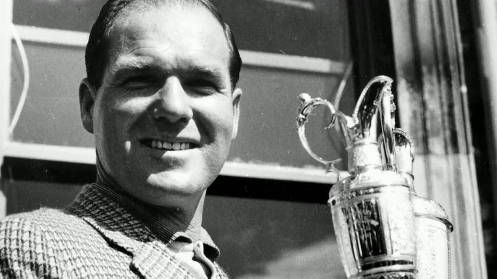 Kel Nagle pictured with his Open Championship trophy