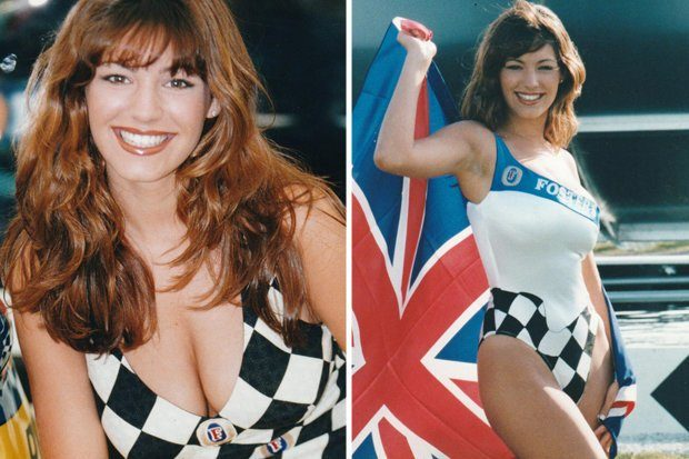 British model Kelly Brook as a grid girl