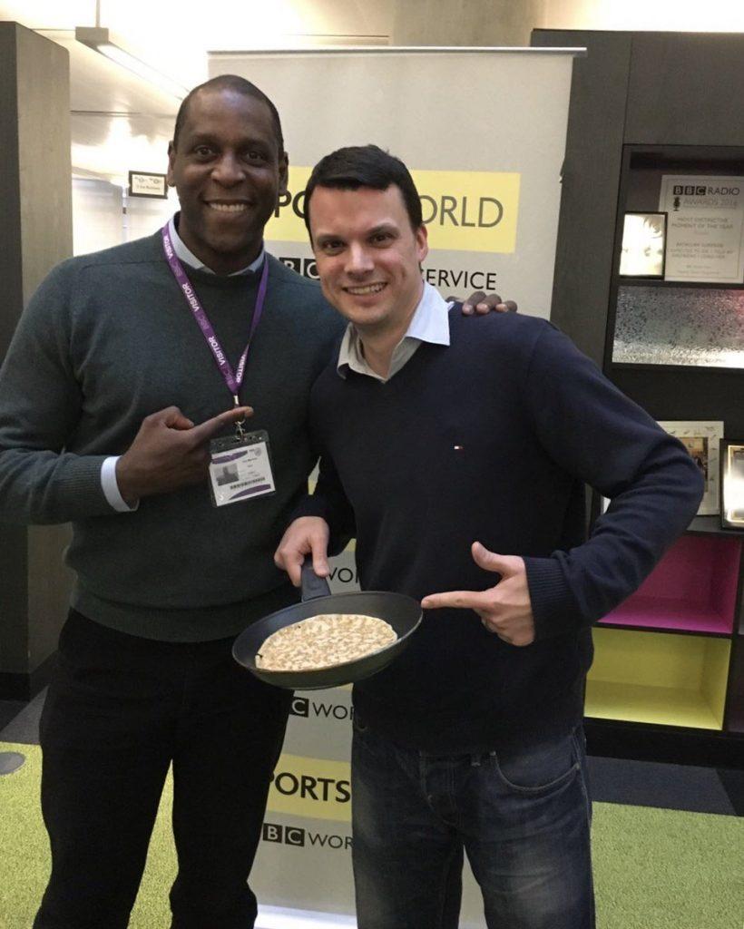 Ex-footballer Ken Monkou now works as a Pancake Chef