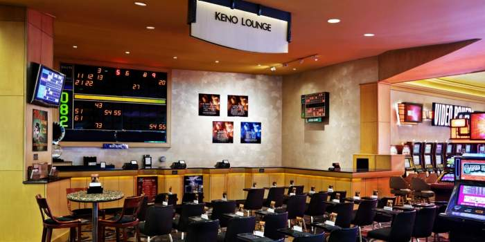 An image of a Keno lounge inside a casino