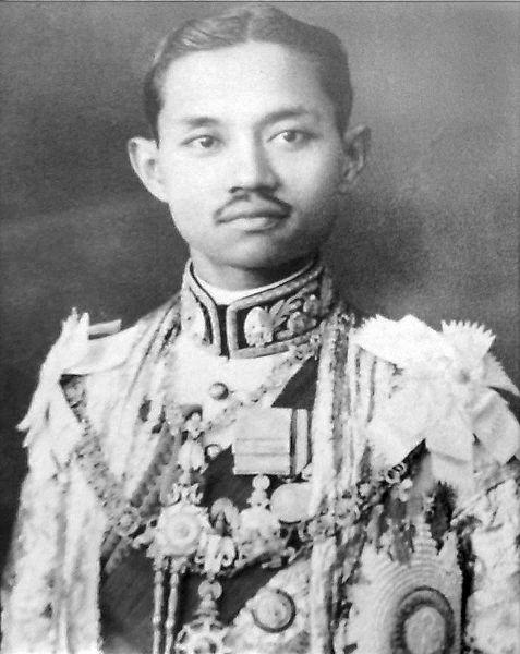 black and white photo of Thai king Rama VII