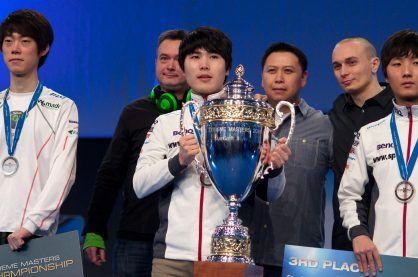 South Korean gaming team winning a Star Craft II championship