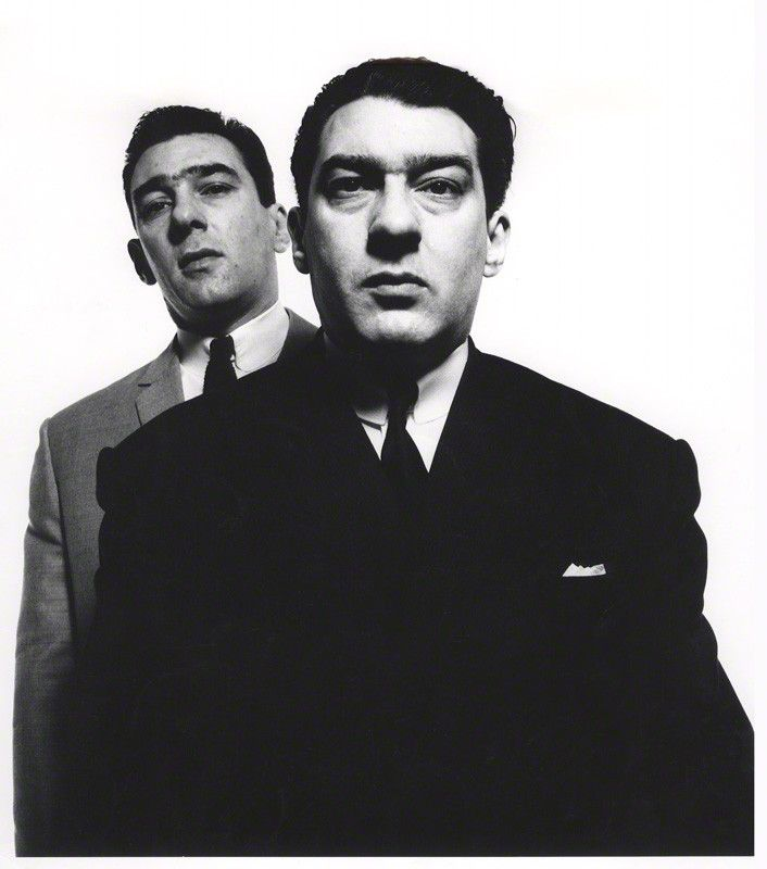 David Bailey portrait of Kray twins