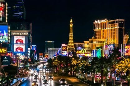 Las Vegas strip, home to some of the best hot spots for celebs