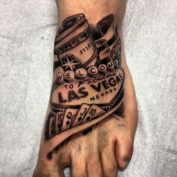 Las Vegas foot tattoo