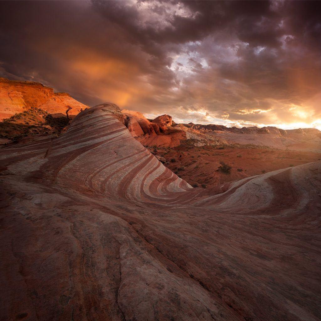 An incredible vista from the Las Vegas desert