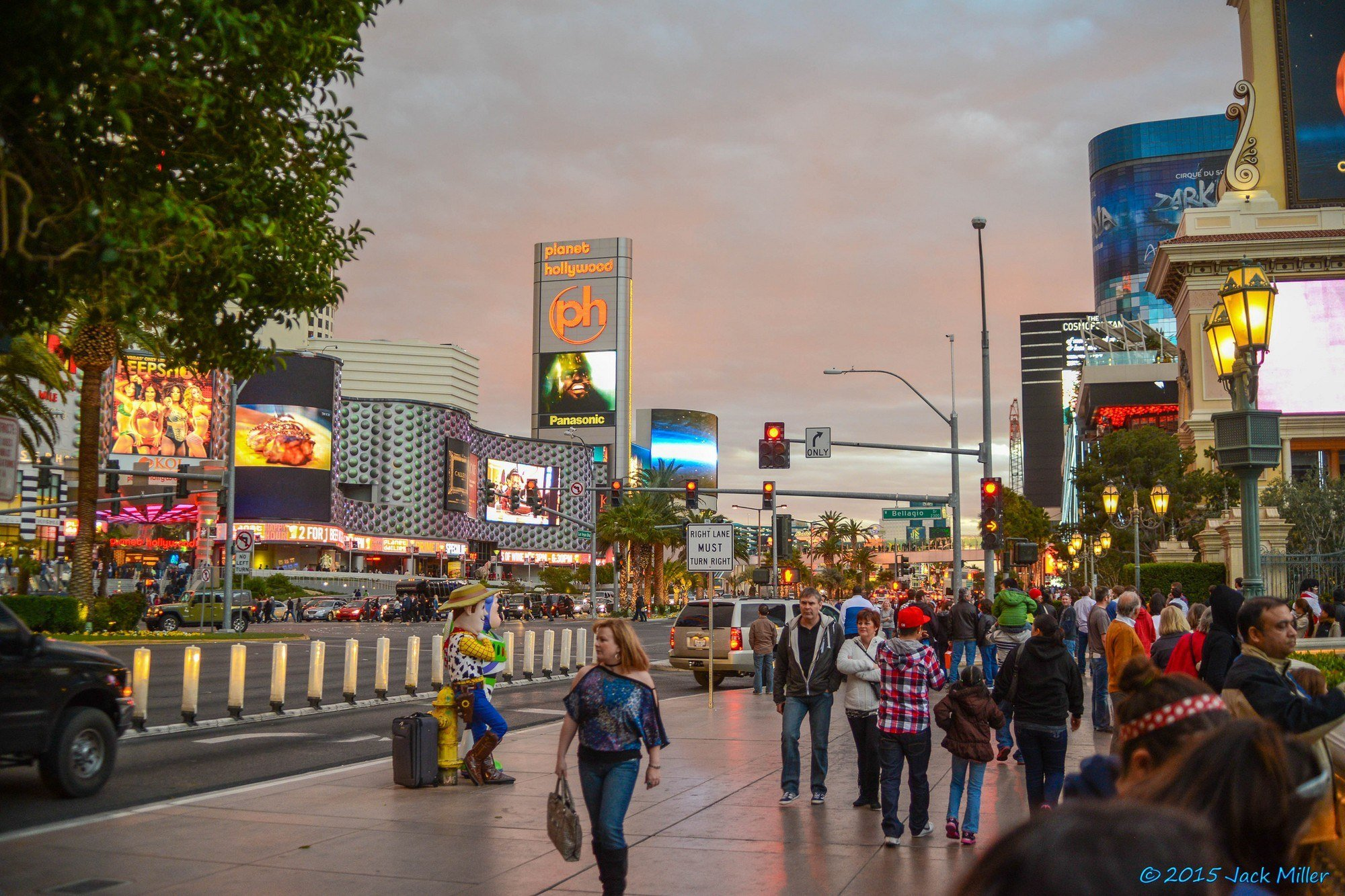 People walking along the Las Vegas strip