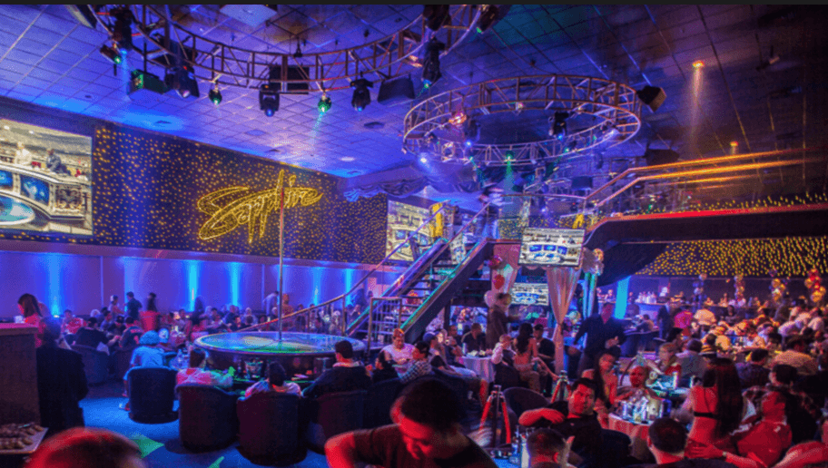 A Las Vegas strip club, direct competition of VR club's