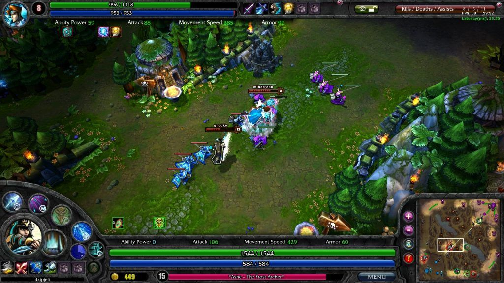 League of Legends game play
