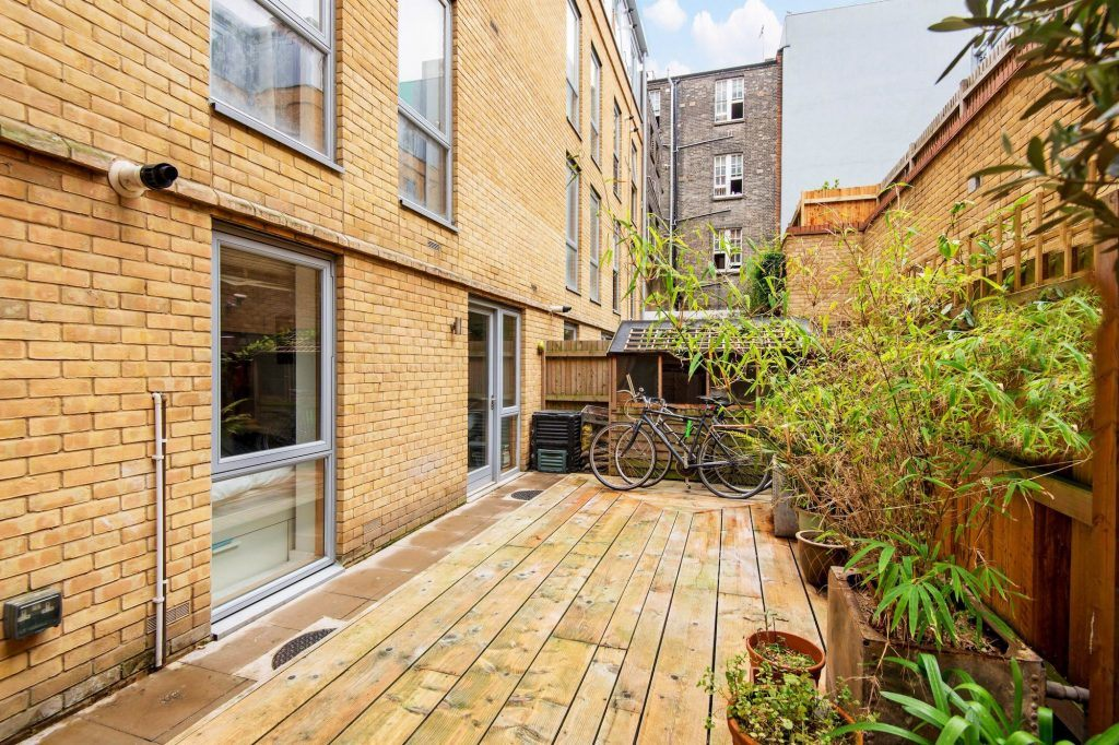 The garden of a modern London property