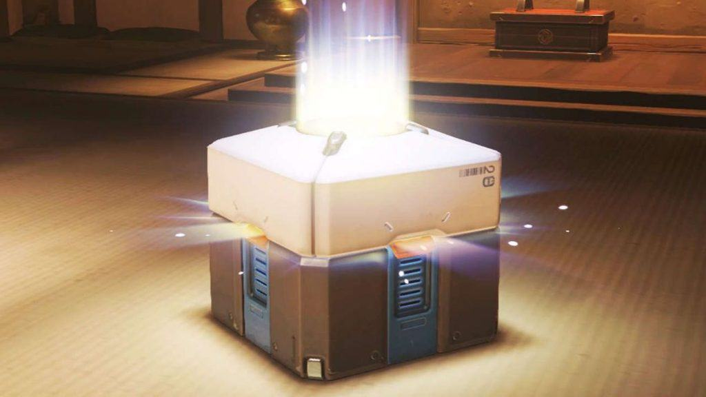 A loot box from the game Overwatch