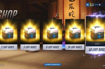 Loot Boxes on offer in the game Overwatch
