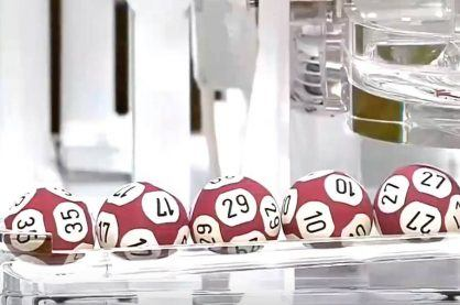 Selected balls from a Euromillions draw