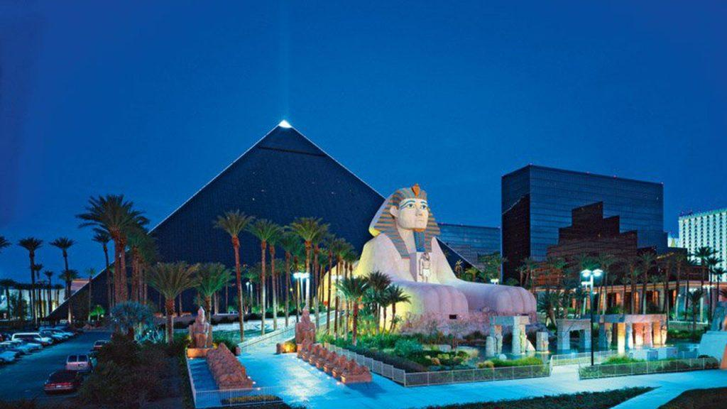 The Luxor hotel and casino resort in Las Vegas